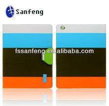 Cardholder Leather Case For Ipad2/3/4 Cover/Wallet Design Leather Case For Ipad/Leather Protective Case Manufacturer
