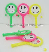party favor toy 6pk plastic shaking rattle drum noise maker