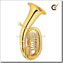 4 Valves Gold Lacquer Bb Key Euphonium (EU9540)