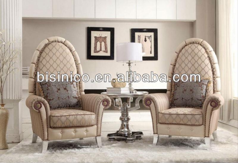 Neo klassische möbel wohnzimmer gesetzt, flügel stühle