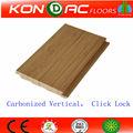 Vertical flotante suelo de bambú, Top seller! Carbonizada Vertical completa haga clic en el piso de bambú