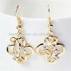 2013 women gold earrings designs for girls