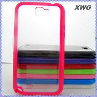 Clear TPU Bumper Frame Case Cover for Samsung Galaxy Note II n7100