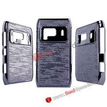 Deluxe Chrome Electroplating Hard Covercase Skin for Nokia N8(Black/Grey)