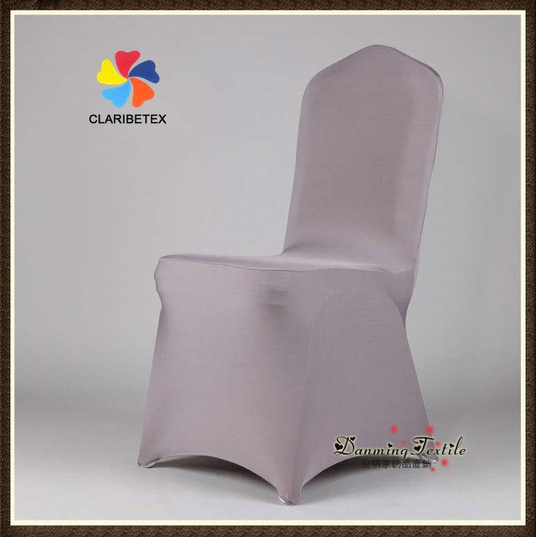 Wholesale Lycra Spandex Wedding Chair Cover in Dark Gray