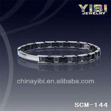 Black Ceramic & Tungsten Carbide 2-Tone Magnetic Men and Women Bracelet, Fashion world cup 2014 bracelet