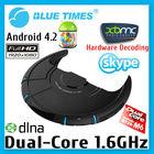 Dual Core Cortex A9 Google Android TV Box Wireless Bluetooth USB RJ45 HDMI Internet Smart TV Box