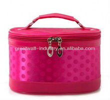promotional fashion nylon cosmetic bag with mirror
