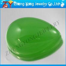 pear cut green cabochon glass gemstone
