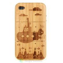 natural environmental bamboo wood Pad cases
