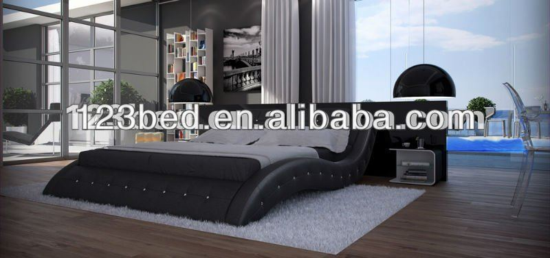 modern latest design double bed designs A506, View double bed