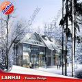 la neve architettura villa disegno 3d rendering