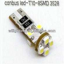 ERROR FREE CANBUS W5W T10 501 LED SIDE LIGHT BULB 8 SMD -WL