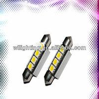 License Plate LED Xenon White Festoon Light No Canbus Error Warning Bulbs -WL