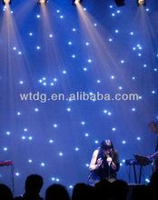 good quality led star cloth/led cloth/ led christmas lightled star cloth/led star curtain /wedding lighted curtain