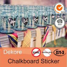 Popular party use dry erase blackboard sticker label