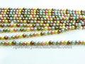 Concha de perla y perlas de vidrio perlas por encargo y venta al por mayor 4 mm concha de perla color mezclado o cristal redondo de la perla perlas sueltas trenza