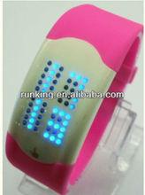 LED sports faceless wrist watch ,watch manufacturer&supplier&exporter Runking watch1002-1