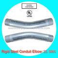 porinmersión en caliente de acero galvanizado doblado de tubos