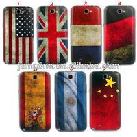 Cool US Flag UK Flag Mix National Flag Designer Plastic Battery Housing Case for Samsung Galaxy Note2 N7100