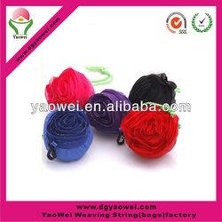 Wholesale flower foldable polyester shopping bag