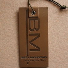 embossed tag leather