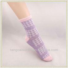 High quality CA yarn fashionable womens solid color socks women