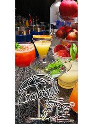 Bn283 Cocktails Tiki Bar Parrot Gin Rum Vodka Martini Blend Beer Banner Sign