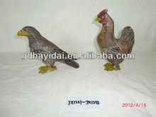 Di legno fatti a mano carfts, aquila e animale gallo decorazioni aquila