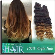 100% Unprocesse Ombre Braiding Hair Curly Brazillian Hair