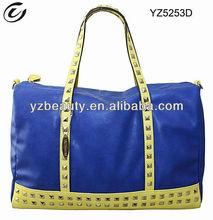 Studded shoulder handbag satchel purse bag