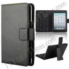 Hot Sale Glossy Lichee Texture PU Leather Case+Bluetooth Keyboard for iPad Mini/iPad1/iPad2/The New iPad