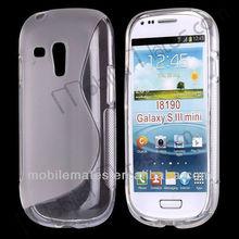 S Shaped TPU Case Cover for Samsung Galaxy S3 SIII Mini i8190