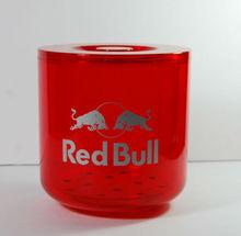red bull de la marca roja transprent cubo de hielo de refrigeración bebidaenergética botella