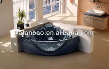 Black color massage bathtub (G657)