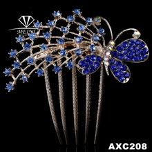 fashion shining diamond girls butterfly hair clip