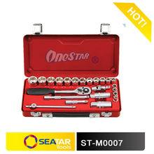 "Metal Case Combined Hand Tool Kits 24 PCS Socket Set(3/8"")"