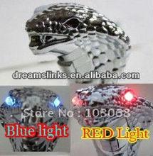 NEW AUTO Blue / Red LED Light Snake Transmission Gear Knob / Shift Knob Shifter Silver