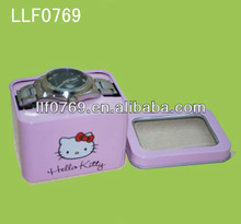 hello kitty metallic boxes packaging for watch
