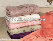100% cotton super soft good quality beautiful design bamboo towel organic bamboo towel
