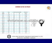 Stainless steel Eye Bolt DIN 580
