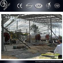 Advanced TECH!! 100% security rubber pyrolysis oil distilation equipment