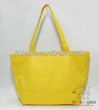 fishion yellow canvas shopping bag
