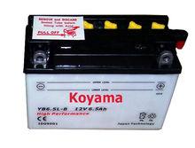 dry charge motorcycle battery YB6.5L-B-12V6AH