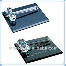 Fancy Decorative Crystal Gavel Set With Engravved Base