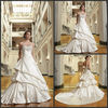 Elegant A-line Sweetheart Sleeveless Beaded Made In China New Style Wedding Dress