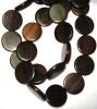 Tiger Ebony Flat Round Wood Beads 15x4-5mm
