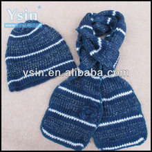 fashion winter knit scarf and hats