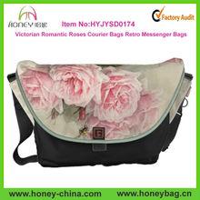 Vintage Courier Bags Victorian Romantic Roses Custom Retro Messenger Bags