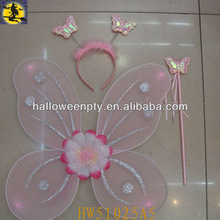 Led Glitter Butterfly Fairy Wings Sets For Kids Party